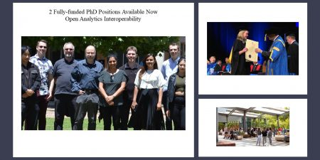 2 Fully-funded PhD Positions Available Now – Open Analytics Interoperability at The University of South Australia